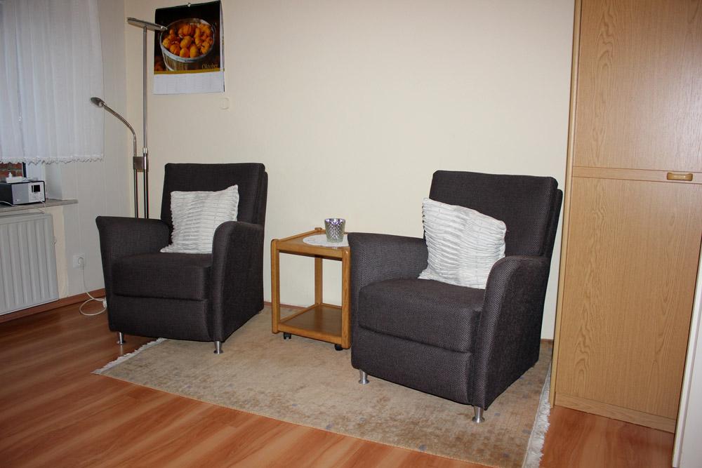"""Sessel der Ferienwohnung """"Bachstelze"""" im Zentrum von Büsum an der Nordsee"""