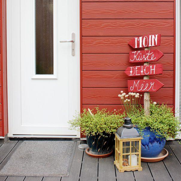 """Eingang zur Ferienwohnung """"Austernfischer"""" im Zentrum von Büsum an der Nordsee"""